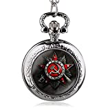 HWCOO Pocket Watches Quartz pocket watch with Russian flag symbol (Color: 2)