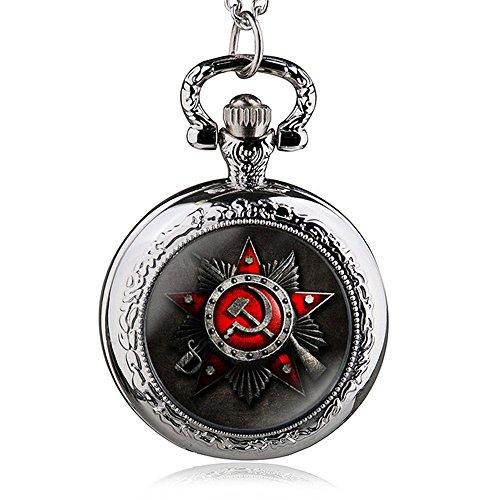 HWCOO Taschenuhren Russische Flagge Symbol Quarz Taschenuhr Uhren ( Color : 2 )