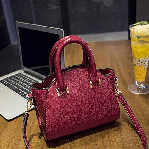 YTTY Fashion Bear Anhänger Schultertasche Einfache Handtasche High-Volume-Quilt-Tasche, Dunkelviolett (Tasche Quilt)