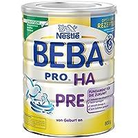 Nestlé BEBA PRO HA Pre  Babymilch zum Zufüttern für Säuglinge   Mit ungesättigten Fettsäuren Omega 3 (LCP)   Wissenschaftlich geprüfte Anfangsnahrung   Reduziert Allergierisiko   6er Pack (6 x 800 g)