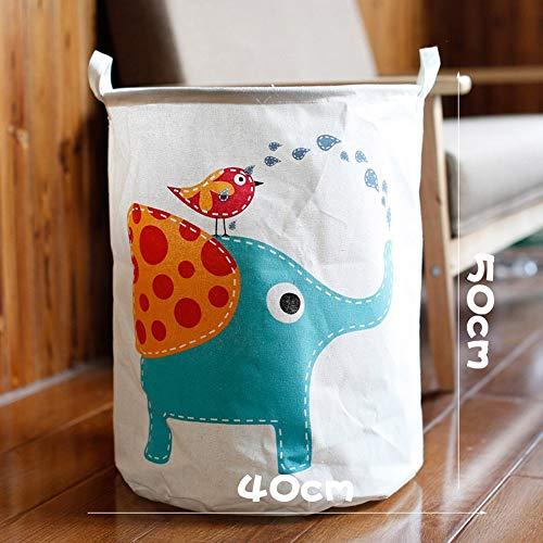 JJHR Wäschekorb Große Kapazität Wäschekorb Wasserdicht Schmutzige Kleidung Korbfalte Spielzeug-Speicher-Korb-Tragbarer Wäscherei-Organisator, Y