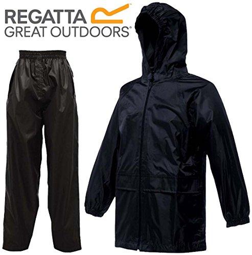 Regatta Kids Stormbreak Waterproof Rainsuit | Taped Seams | Trouser & Jacket