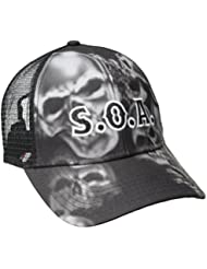 Sons Of Anarchy Skull Sublimation Snapback Trucker Hat