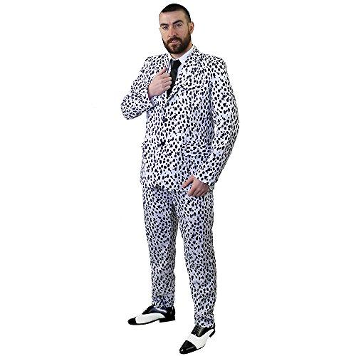 Erwachsene Dalmatiner 101 Kostüm Für - ILOVEFANCYDRESS I Love Fancy Dress ilfd4579s Dalmatiner Print Anzug Kostüm-Perfekt als Halloween-Kostüm-Größe: Small S