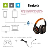 Kotion Each B3506 Bluetooth Headphones for PS4, Wireless Headset with Microphone, Noise Isolation