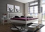 SAM® Metallbett 180x200 cm Rosario, Bettgestell weiß, filigrane Verzierungen, Blickfang für Gästezimmer Schlafzimmer