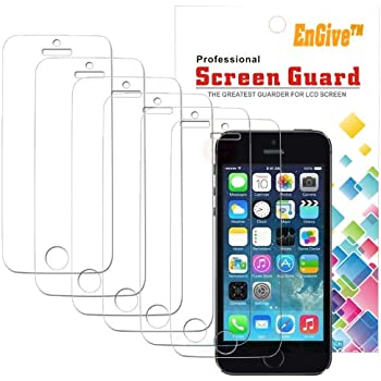 6 x iPhone 5S Displayschutzfolie - EnGive Schutzfolie Folie für iPhone 5S 5C 5
