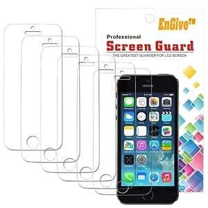 6 x iPhone SE 5S Displayschutzfolie - EnGive Schutzfolie Folie für iPhone SE 5S 5C 5