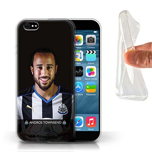 Officiel Newcastle United FC Coque / Etui Gel TPU pour Apple iPhone 6S / Pack 25pcs Design / NUFC Joueur Football 15/16 Collection Townsend