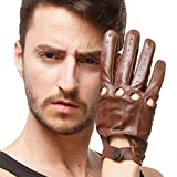 Nappaglo uomini guida i guanti di cuoio italiano di pelle piena dito moto ciclismo in unlined guanti (touchscreen o non touchscreen)