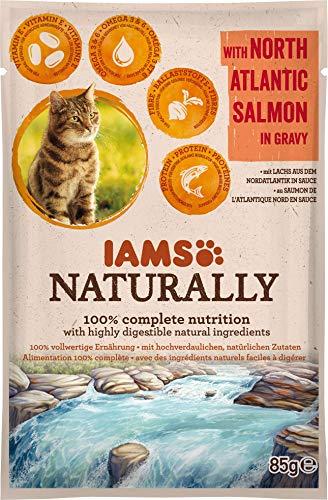 Iams Cibo Umido per Gatti Adulti Naturally North Atlantic Salmon in Gravy - 85 gr