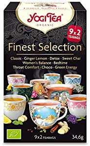 Yogi tea Thé Bio Selection 18 Sachets 30,6 g - Lot de 2