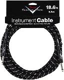 Fender Custom Shop Jack / jack 5.5m (18.6 ft) Black Tweed Guitar Instrument Cable