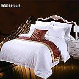 UP&sleep Copripiumino Hotel Quality,Bianca Reticolo Soft Insieme dell'assestamento Microfibra Durevole Armatura a Raso Trapunta Ipoallergenico Confortevole -A 220x220cm(87x87inch)