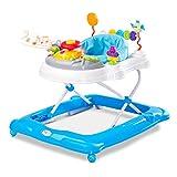 Caretero TOYZ Kupferblatt Lauflernhilfe Gehhilfe Laufhilfe mit Spielcenter Blau