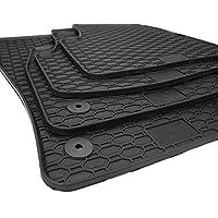 Skoda Alfombrillas de goma Alfombrillas para coche para Skoda Octavia III 5E RS Saloon coche, Estate coche Suelo de Goma (Calidad original 4piezas redondo, color negro