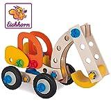 Eichhorn 100039087 - Bagger 90-teilig Holz-Konstruktions-Set, 3 verschiedene Modelvarianten baubar, FSC 100%