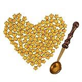 CTlite 100pièces en Forme d'étoile d'étanchéité Cire Perles avec 1pièce rétro Cire la Fonte Cuillère pour Tampon Cire d'étanchéité doré