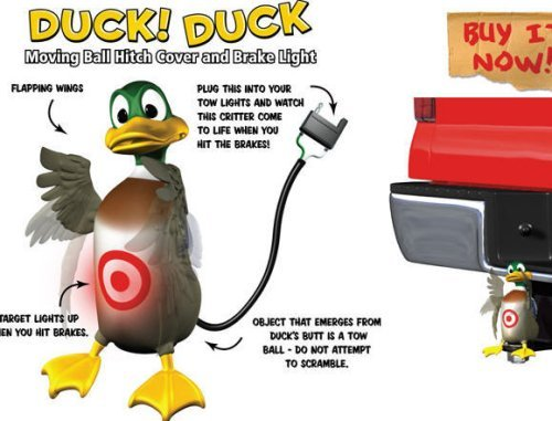 Hitch Critters Duck Animated Ball Hitch Cover and Brake Light (Hitch Cover Light)