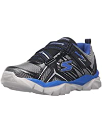 Skechers Electronz Kids Fitness Trainers 95407N Lightwight black blue strap