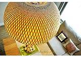 Abat-jour-fait-main-en-rotin-Table-Abat-jour-pour-lampe-suspendu-ou-hmisphre-forme-Couleur-bois-naturel-L001