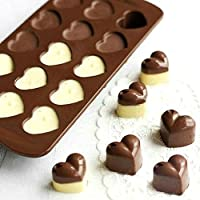 DSYJ Heart-shape Silicone Chocolate Cake Jelly Candy Mould