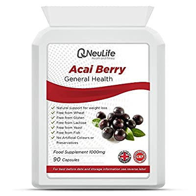 Acai Berry 1000mg - 90 Capsules - by Neulife Health and Fitness by Neulife Health and Fitness