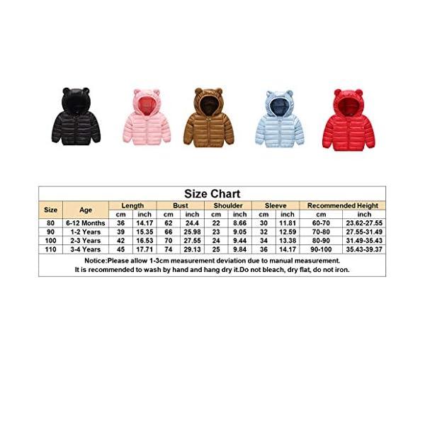 Runuo Chaqueta de bebé,Chaqueta de Abrigo con Capucha para niños Ropa de Abrigo Ligera Trajes 5
