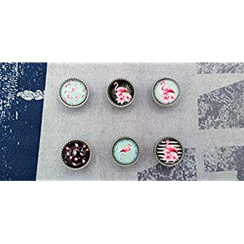 Charm Cabochon Schiebeperle Armband Lederarmband Kinderarmband Tiermotiv Flamingo tropical hellblau blau pink rosa schwarz türkis mint weiß