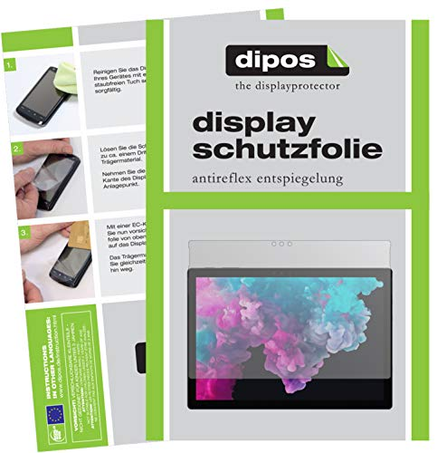 dipos I 2X Schutzfolie matt passend für Microsoft Surface Pro 6 Folie Displayschutzfolie