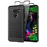 LG G8 ThinQ Case with Tempered Glass Screen Protector [2
