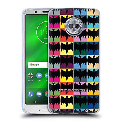 Head Case Designs Officiel Batman TV Series Modèles Logos Coque en Gel Doux Compatible avec Motorola Moto G6 Plus