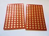 Gold 9mm Star Stickers, 182 Labels, for Rewards, Award, Kids Craft, Economy Pack