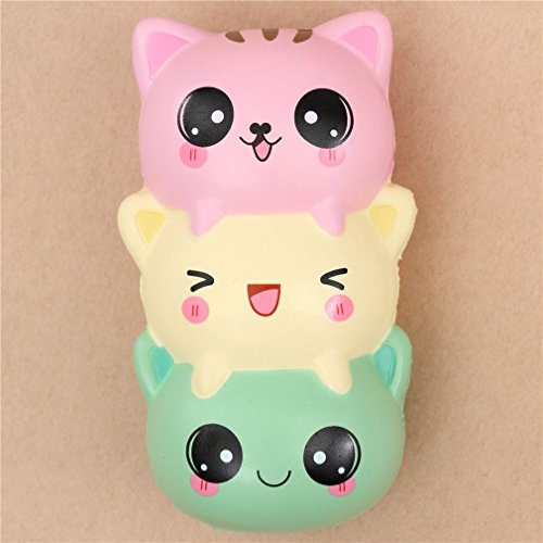 8cea2ad853 SaveMoney.es. Cute green light yellow pink cat dango squishy kawaii  searched at the best price in all stores Amazon