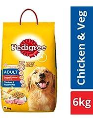 Pedigree Adult Dry Dog Food, Chicken & Vegetables - 6 kg Pack