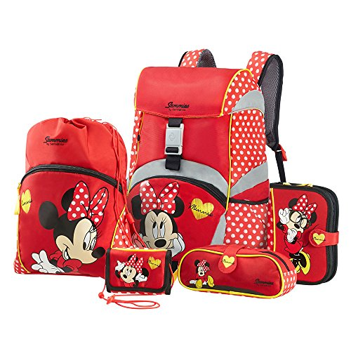 Sammies by Samsonite - Schulranzen Set 5 tlg. - Minnie Mouse (Samsonite Luggage Lock Set)