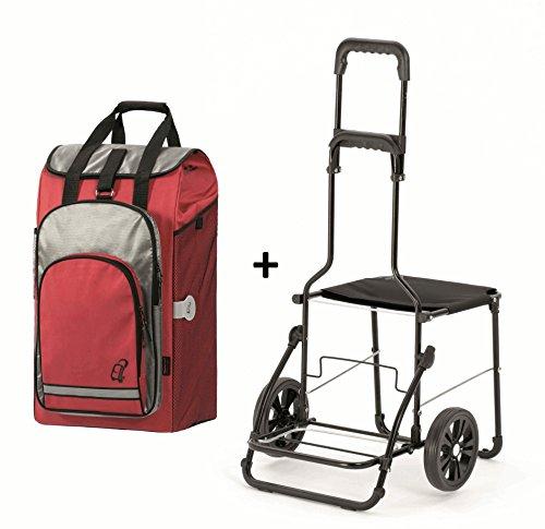 Sitztrolley für Senioren von Andersen Komfort Shopper Rot - 2