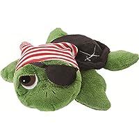 Li'l Peepers 14184 Rocky - Tortuga de peluche vestida como un pirata (15,2 cm), color verde