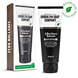 Natürliche Männerpflege: Aftershave Balsam - 75 ML  beruhigt die Haut und wirkt antibakteriell  Naturkosmetik der BROOKLYN SOAP COMPANY   Geschenkidee als Geschenk für Männer