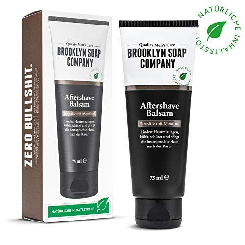 Brooklyn Soap Company Natürliche männerpflege: aftershave balsam - 75 ml ? beruhigt die haut und wirkt antibakteriell ? naturkosmetik der brooklyn soap company ® ? geschenkidee als geschenk für männer