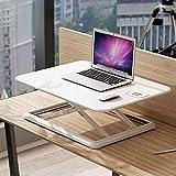 Bookkindermöbel Stehen Computer-Hubtisch Höhenverstellbarer Mobil Laptop-Computer-Schreibtisch Folding Notebook Auf Bett (Farbe : Weiß, Größe : 61.5×18.8×51.5cm)