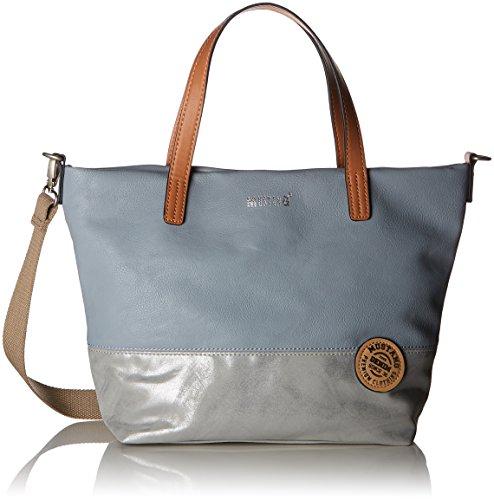 MUSTANG Damen Bennsville Mason Handbag Mhz Henkeltasche, Grau (Grey), 12x26x38 cm