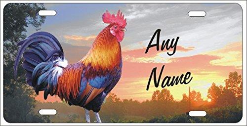 Hahn chicken Farm Personalisierte Neuheit vorne Nummernschild Good Morning Schild DEKO Aluminium Custom Auto Tag - Hahn Neuheit