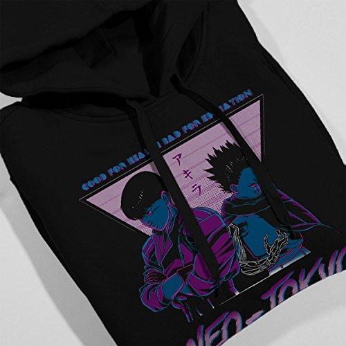 Neo Tokyo Now Youre A Boss Too Akira Women's Hooded Sweatshirt Black