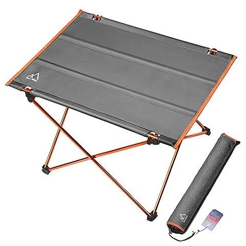 Campingtisch, Terra Hiker Ultraleicht Klapptisch, Faltbar Aluminium Tisch, Ideal für Camping und Picknick