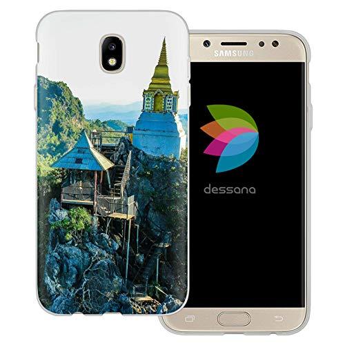 dessana Orient transparente Schutzhülle Handy Case Cover Tasche für Samsung Galaxy J5 (2017) Buddhismus