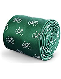 Frederick Thomas Green Tie with Bicycle Design