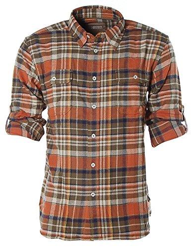 Man's World -  Camicia Casual  - Classico  - Maniche lunghe  - Uomo Arancione