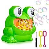 jbxgyp Kid Bubble Maker Automatische, Langlebig und Hohe Ausgang Blase Gebläse, Frosch Form Seifenblasen Maschine Einfach zu Verwenden für Little Kinder Jungen Mädchen