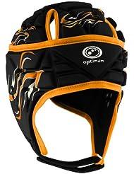 Optimum Inferno - Casco de rugby, color negro / naranja, talla L